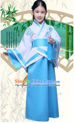 Ancient Chinese Palace Costumes Complete Set, Traditional Han Dynasty Ancient Palace Curving Children Clothing, Cosplay Hanfu Fairy Princess Dress Suits for Kids