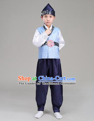 Korean Traditional Dress For Boys Children Clothes Kid Costume Stage Show Dancing Halloween