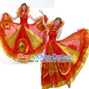Traditional Spain Modern Dancing Costume, Women Opening Dance Costume, Spanish Modern Dance Dress for Women