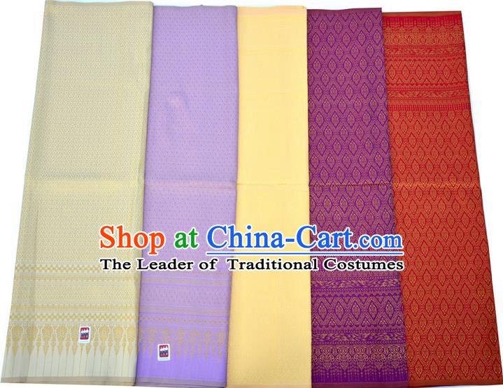 Traditional Asian High Quality Thai Royal Court Sarees and Dress Gilded Material, Thai Silk Palace Gilded Clothes and Fabrics for Women