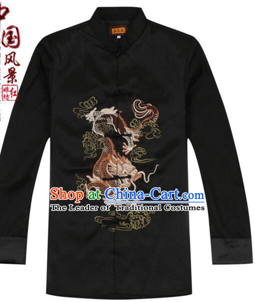 Men Coat Tang Suit Chinese Style Garment Traditional Dress Top Stage Costume