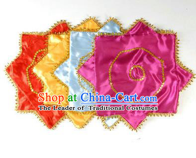 Traditional Chinese Dance Folk Dance Stage Props Handkerchief Er Ren Zhuan Props Large Handkerchief Anise Towel
