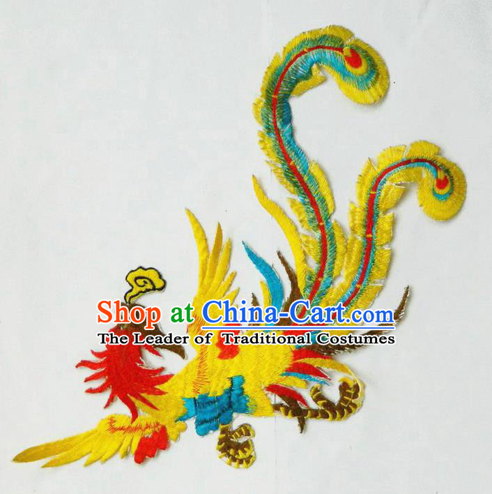 Traditional Chinese Handmade Folk Dance Clothing Ingredients Patch Diy Cloth Accessories Stage Props Umbrellas Yangge Dance Embroidery Phoenix Patch