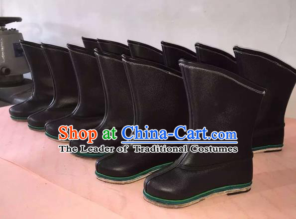 Traditional Chinese Minority Mongol Nationality Ethnic Minorities Mongolian Cowhide Boots Mongolian Jockey Boots Tanks Boots