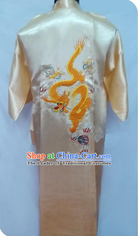 New Style Kimono Dragon Embroidered Chinese Loong Dragon Men Night Gown Leisure Clothes for Emperors