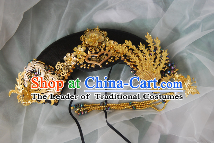 Chinese Ancient Style Hair Jewelry Accessories, Hairpins, Headwear, Headdress, Hair Fascinators, Qing Dynasty Imperial Empress Zhenhuan Handmade Phoenix Wig and Hair Accessories for Women