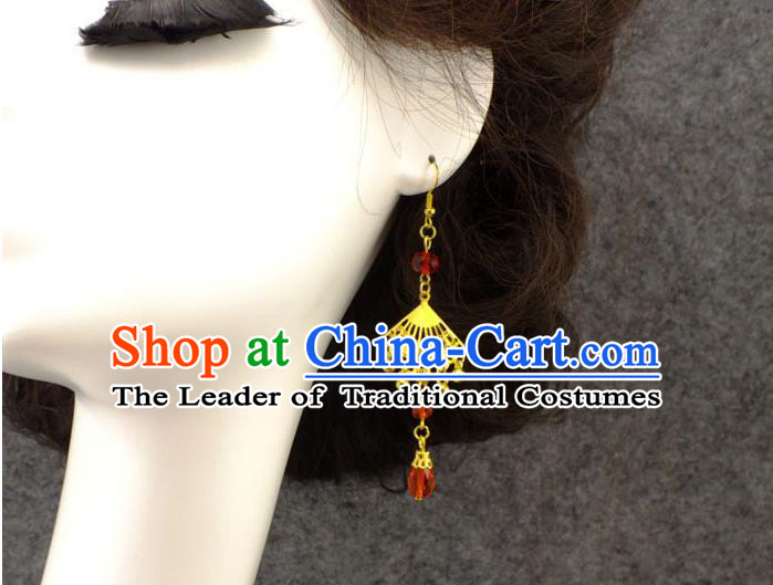 Ancient Chinese Style Imperial Palace Empress Queen Wedding Cloisonn鑼� Earrings For Women