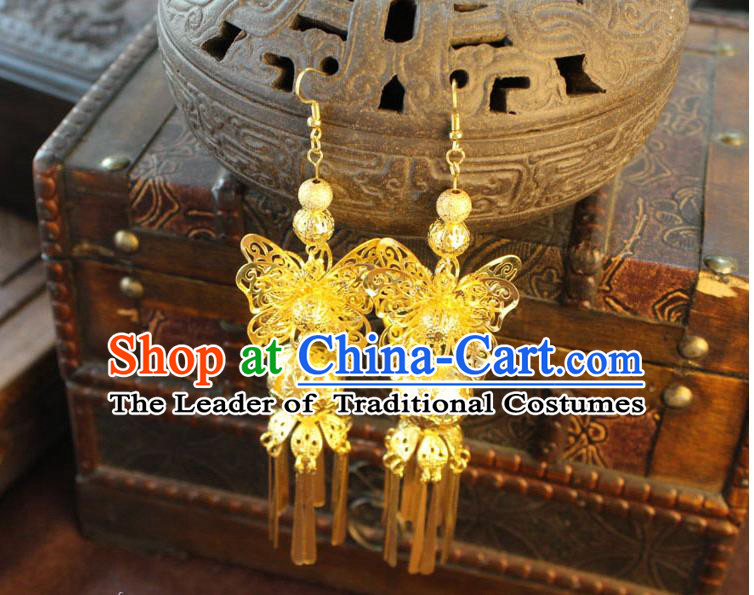 Ancient Chinese Style Imperial Palace Empress Queen Empress Earrings, Wedding Accessories For Women