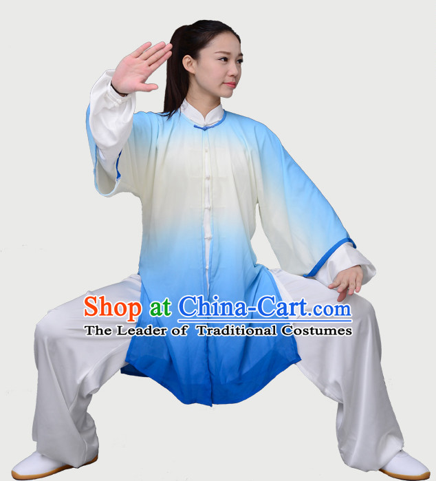 Top Tai Chi Uniforms Kung Fu Costume Martial Arts Kung Fu Training Uniform Gongfu Shaolin Wushu Clothing for Men Women Adults Children