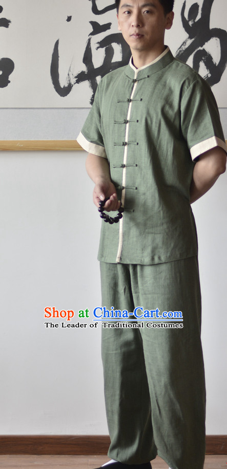 Kung Fu Outfit Martial Arts Uniform Kung Fu Training Clothing Gongfu Flax Suits