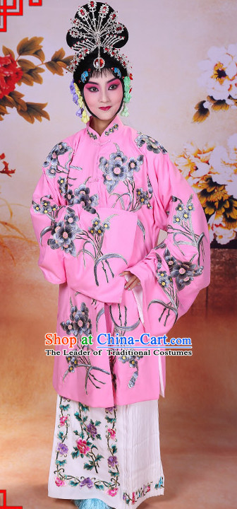 Top Traditional Chinese Beijing Opera Embroidered Long Robe Water Sleeves Costumes