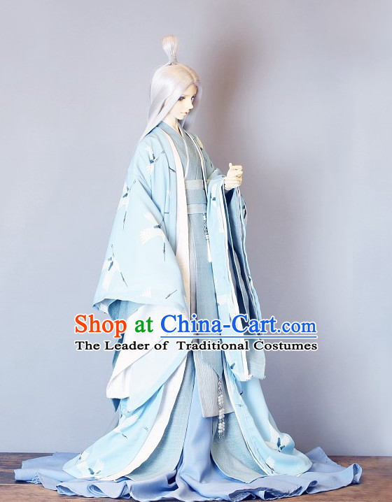 Ancient Chinese Prince Hanfu Garment BJD Costumes for Men Boys Adults Kids