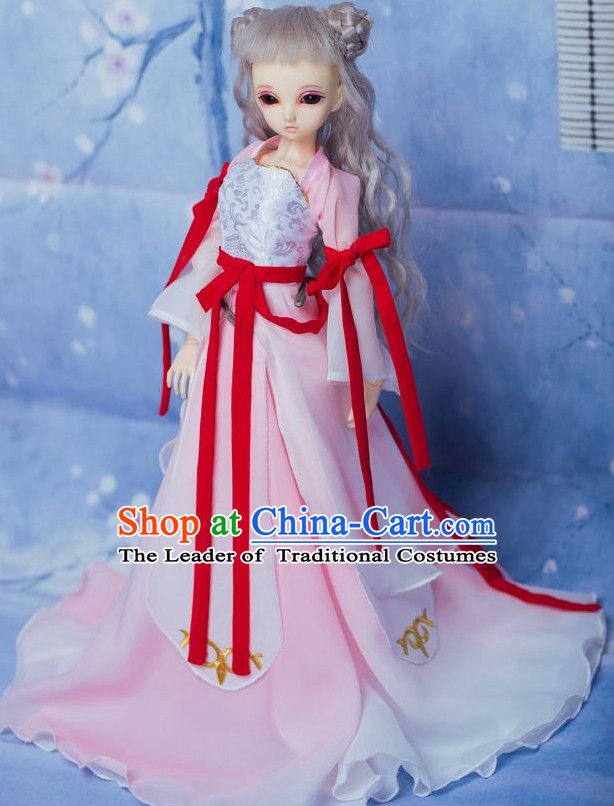 Chinese Style Dresses Chinese Fairy Clothing Clothes Han Chinese Costume Hanfu and Hair Jewelry Complete Set for Men Adults Children