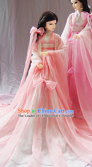 Ancient Chinese Pink Princess Costumes Complete Set for Women