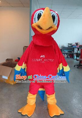 Professional Custom Made Mascot Uniforms Mascot Outfits Customized Walking Bird Parrot Mascot Costumes
