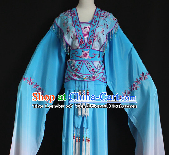 Color Transition Chinese Opera Hua Dan Costumes Complete Set for Women