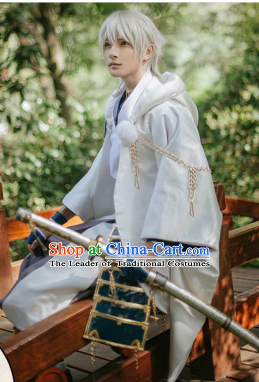 Top Japanese Ancient Swordsman Swordmen Costumes Complete Set for Men or Women