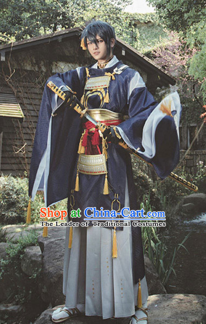 Japanese Cartoon Character Swordsman Swordmen Cosplay Costumes Complete Set for Men or Women