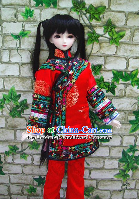 Chinese New Year Dance Costumes Complete Set for Women Girls Adults Children