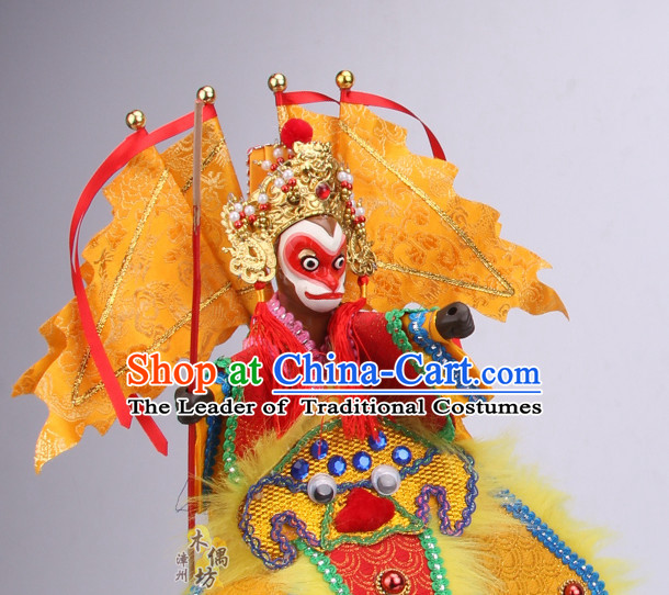 Top Traditional Chinese Ancient Handmade Sun Wukong Hand Marionette Puppet Hand Puppets
