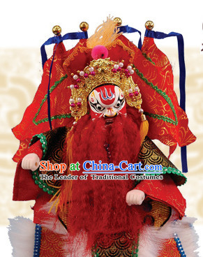 Traditional Chinese Handmade Superhero General Glove Puppet Hand Puppets