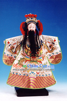 Traditional Chinese Handmade Emperor String Puppet Hand Puppets Hand Marionette Puppet