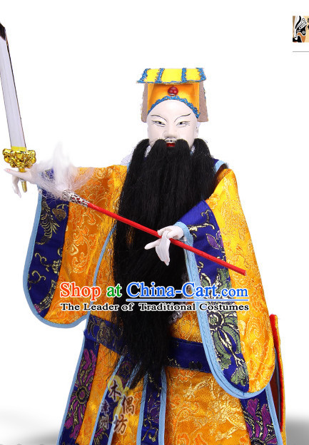 Traditional Chinese Handmade Lv Dongbin Immortal Glove Puppet String Puppet Hand Puppets Hand Marionette Puppet Arts