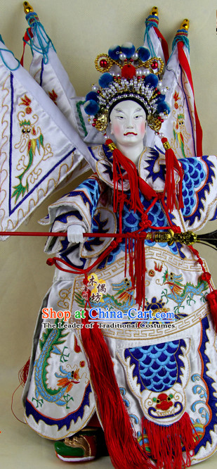 Traditional Chinese Handmade and Embroidered Zhao Yun General Superhero Glove Puppet String Puppet Hand Puppets Hand Marionette Puppet Arts Collectibles