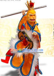 Traditional Chinese Handmade Sun Wukong Journey to the West Hand Puppets Hand Marionette Puppet