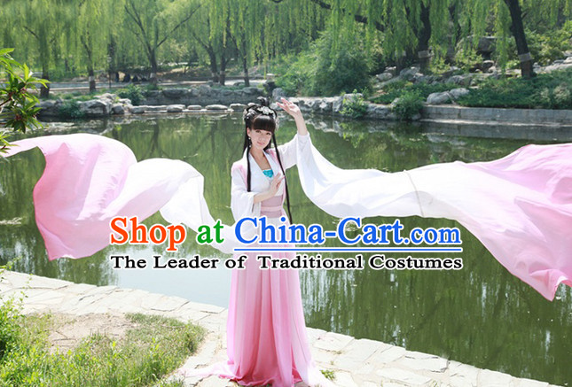 Chinese Classic Water Sleeves Long Sleeves Dance Costumes for Women or Girls