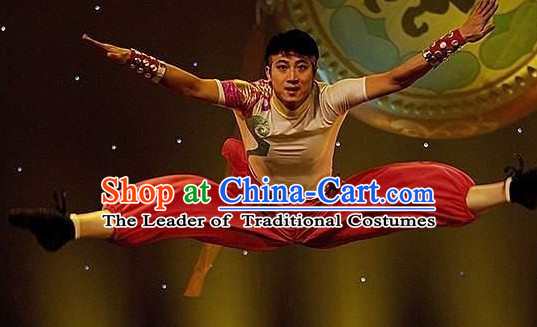 Professional Chinese Drumer Dance Costume for Men Boys Adults Kids