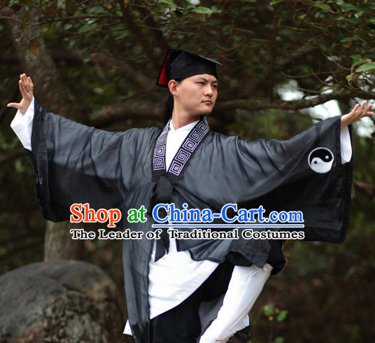 Chinese Folk Taoist Clothes for Men Women Adults Kids Children