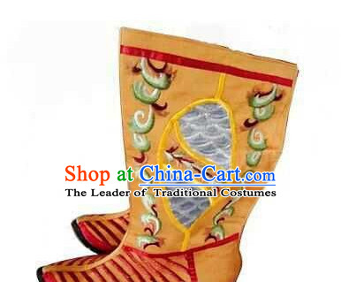Ancient Chinese Film Handmade Emperor Boots for Men Boys Adults Children