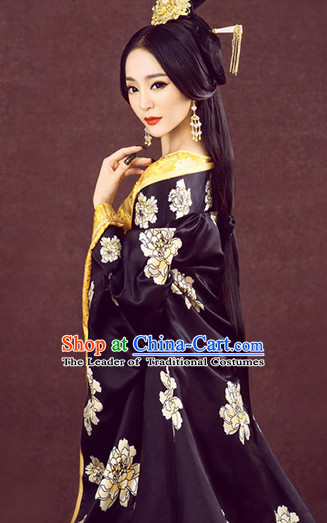 Ancient Chinese Queen Clothing and Headdress Complete Set for Women
