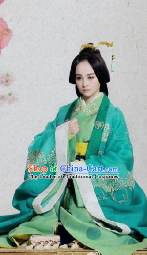 Ancient Chinese Princess Clothing and Hair Jewelry Complete Set for Women Adults Kids Youth Children