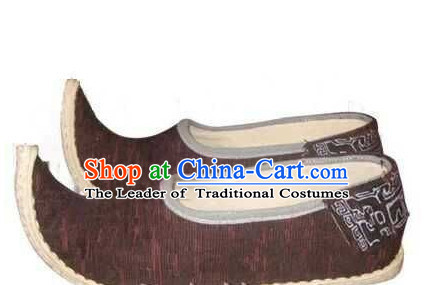 High Heel Handmade Ancient Traditional Chinese Male Hanfu Lotus Shoes China Shoes for Men or Boys