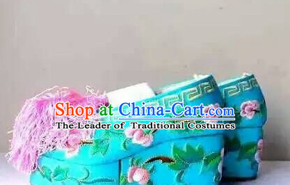 Handmade Ancient Traditional Chinese Handmade and Embroidered Hanfu Lotus Shoes China Shoes