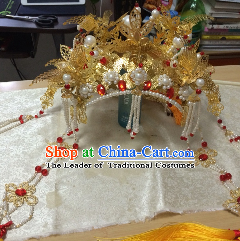 Traditional Chinese Phoenix Crown Coronet for Women Girls
