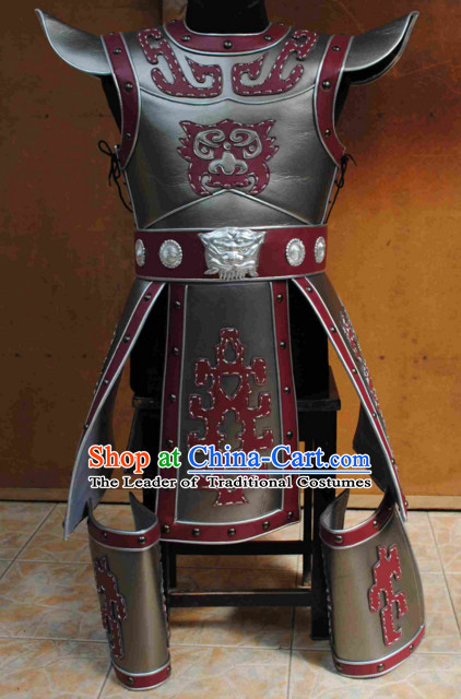 Chinese General Ancient Armor Costumes Complete Set for Men