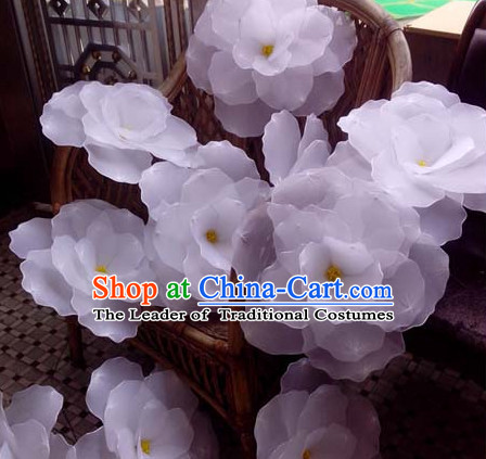 0.7 Meter White Flower Dance Props Props for Dance Dancing Props for Sale for Kids Dance Stage Props Dance Cane Props Umbrella Children Adults