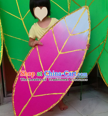 Handmade Big Lotus Leaf Dance Props Props for Dance Dancing Props for Sale for Kids Dance Stage Props Dance Cane Props Umbrella Children Adults