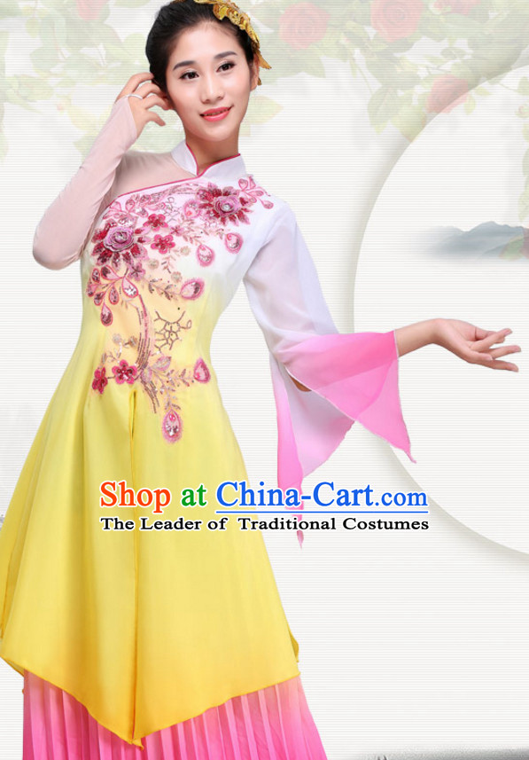 Chinese Folk Group Dance Costumes Dress online for Sale Complete Set for Women Girls Adults Youth Kids
