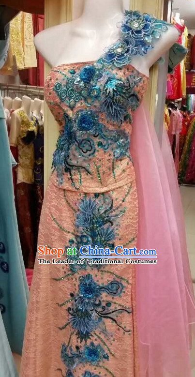 Top Traditional National Thai Garment Dress Thai Traditional Dress Dresses Wedding Dress Complete Set for Women Girls Adults Youth Kids