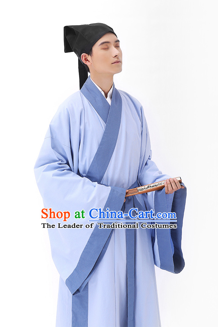 Traditional Hanfu Clothing Dress Buy Male Costume Robe Kimono Dress and Hat Complete Set for Men
