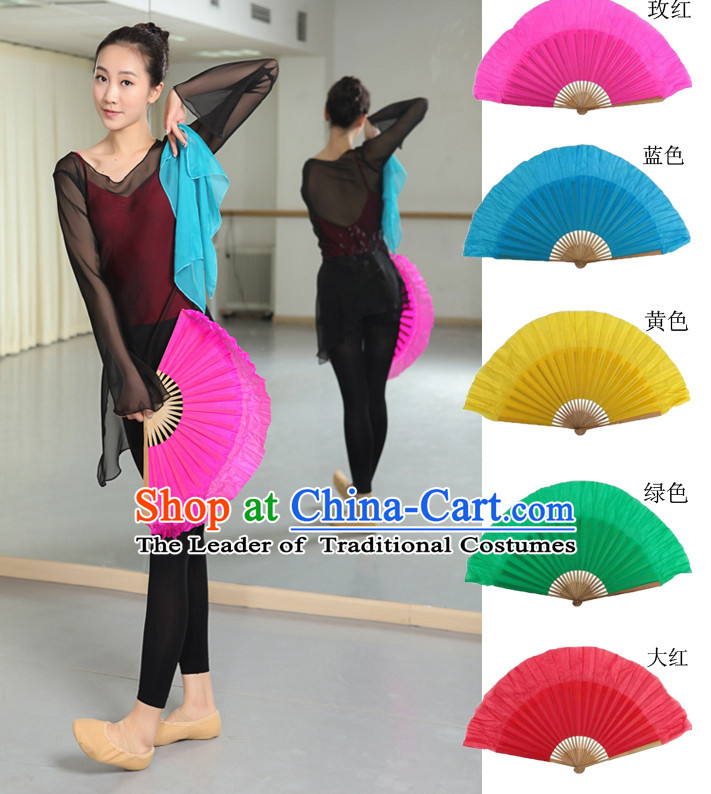 Professional Traditional Color Transition Pure Silk Dance Fan Dance Ribbons
