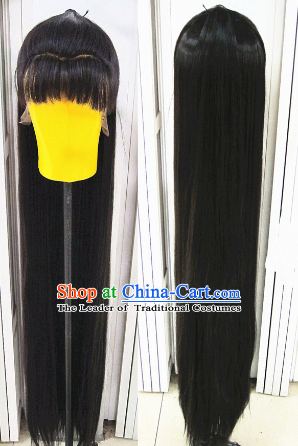 Chinese Traditional Swordsmen Wig Ancient Men Wigs Ladies Wigs Black Wigs Male Lace Front Wigs Custom Hair Pieces