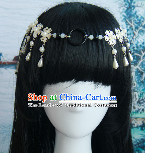 Traditional Chinese Princess Queen Empress Long Black Wigs and Hair Jewelry Hairpieces