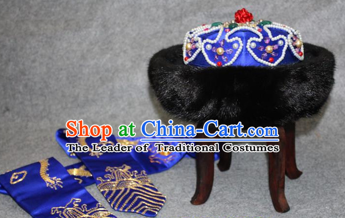 Asian Chinese Qing Dynasty Emperor Hat Crown