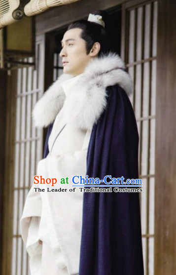 Chinese Traditional Wise Men Long Cape Mantle