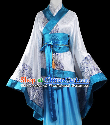 Chinese Traditional Waiter Costumes Complete Set for Girls Women